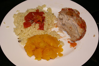 Tomato Roasted Pork with Orzo and Squash