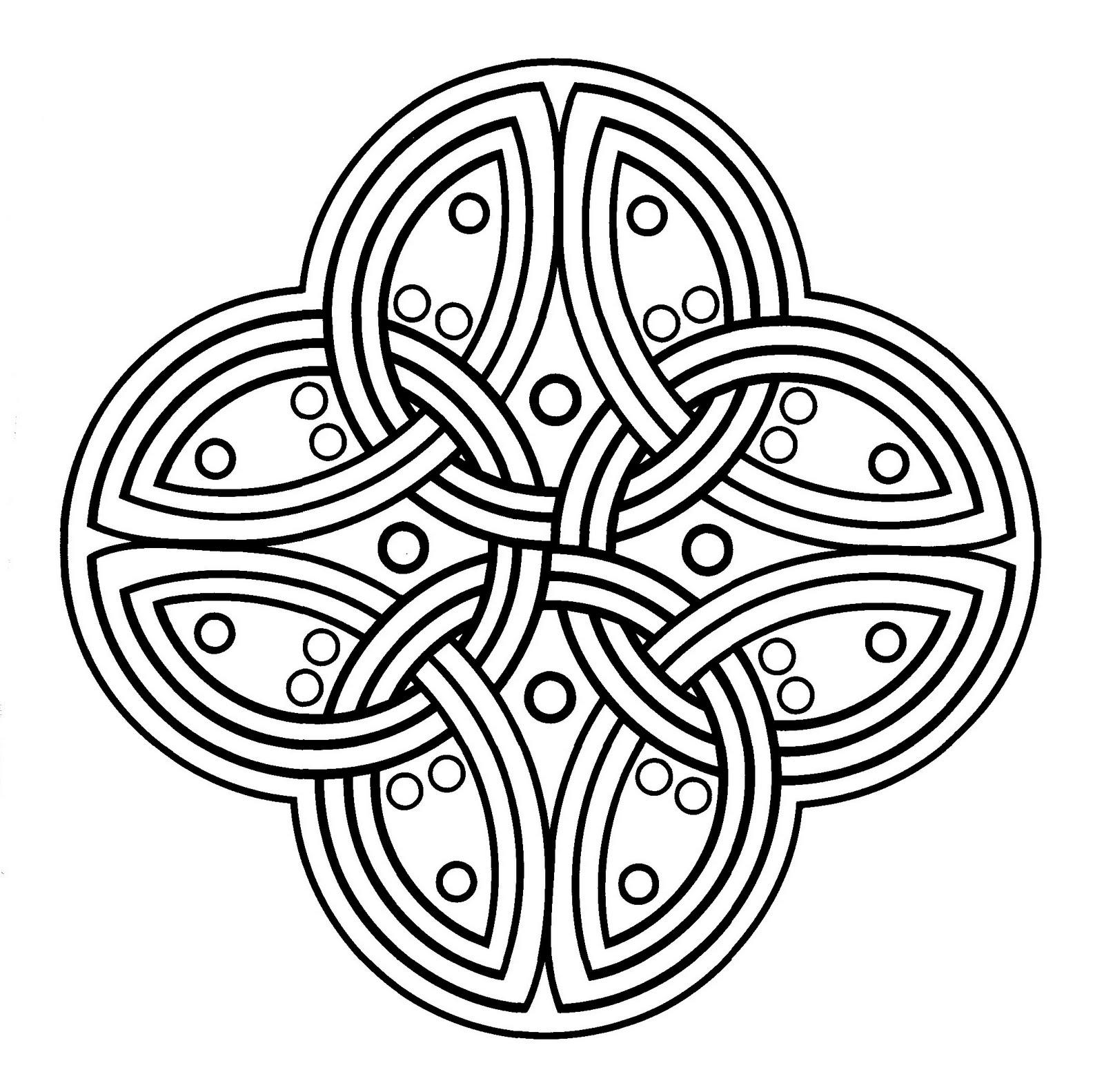 Mandalas Para Pintar: La Gran Cruz Celta