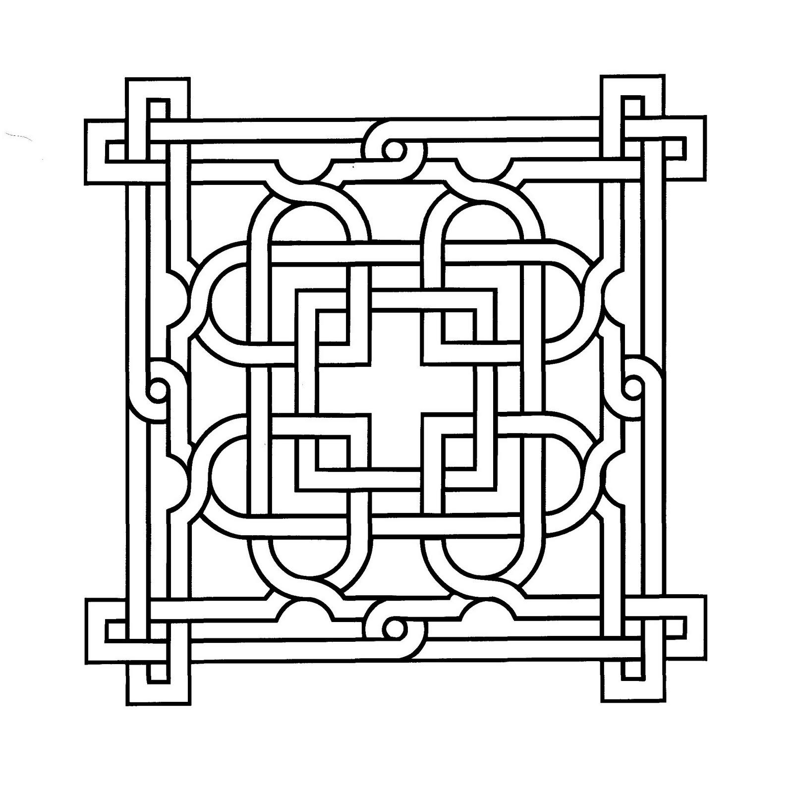 Mandalas Para Pintar: Mandala árabe II