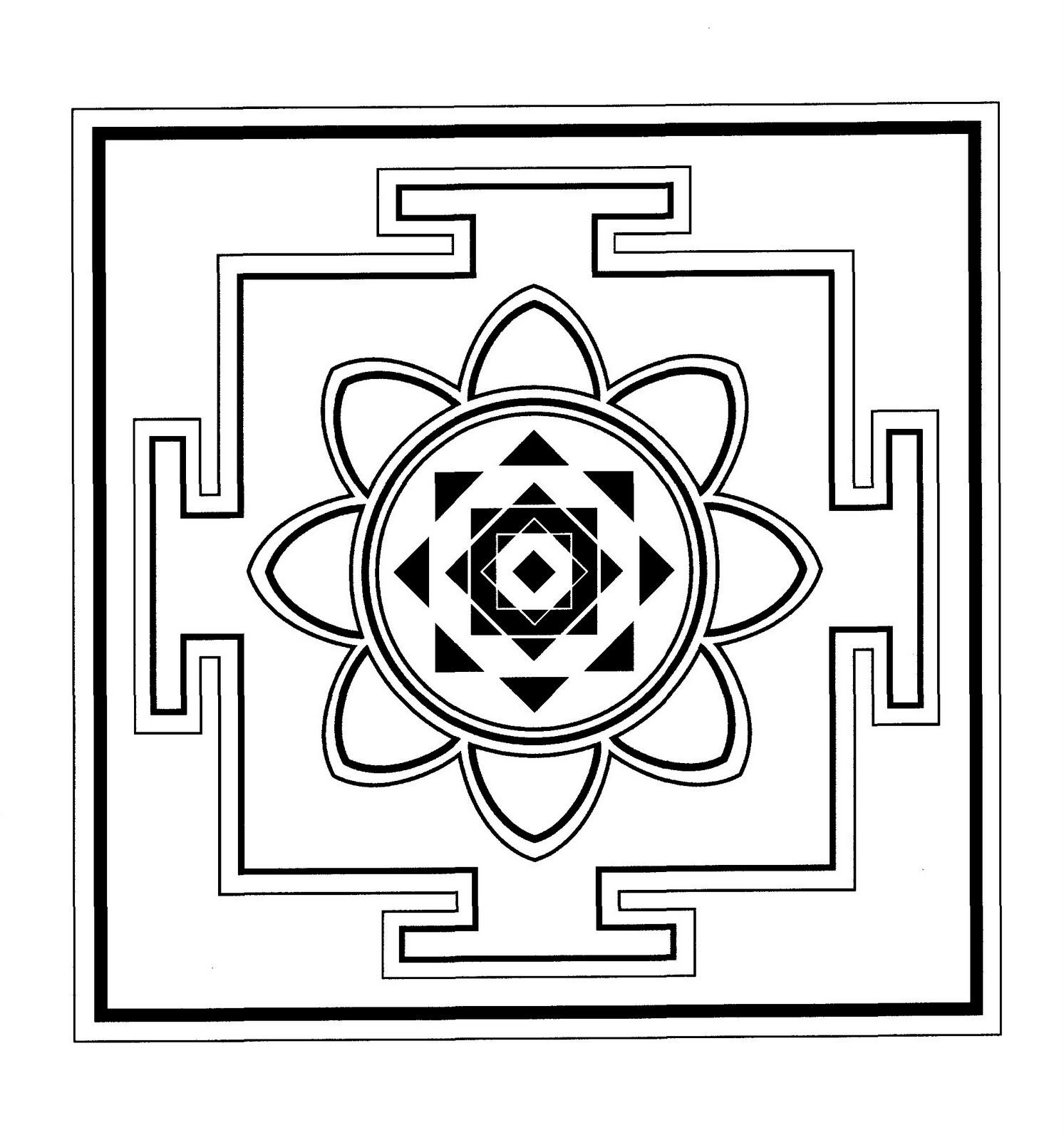 Mandalas Para Pintar: Mandala budista