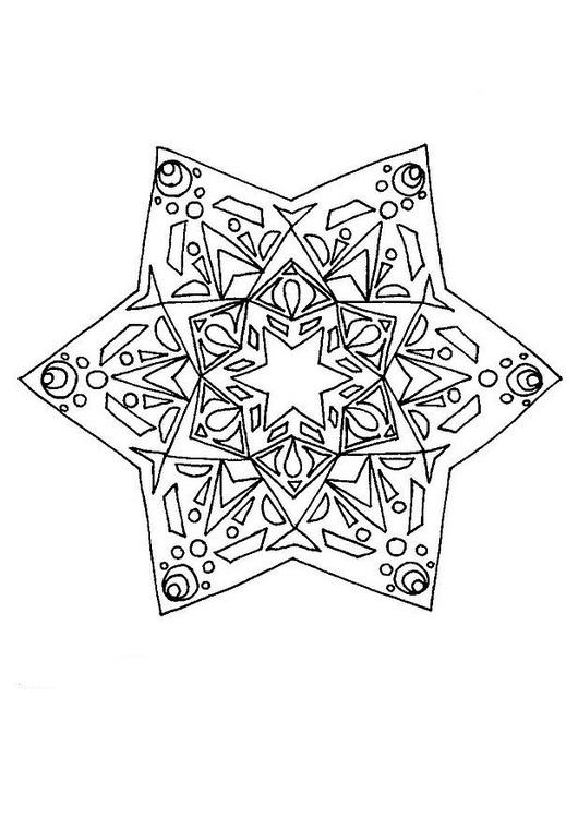 Mandalas Para Pintar Estrella