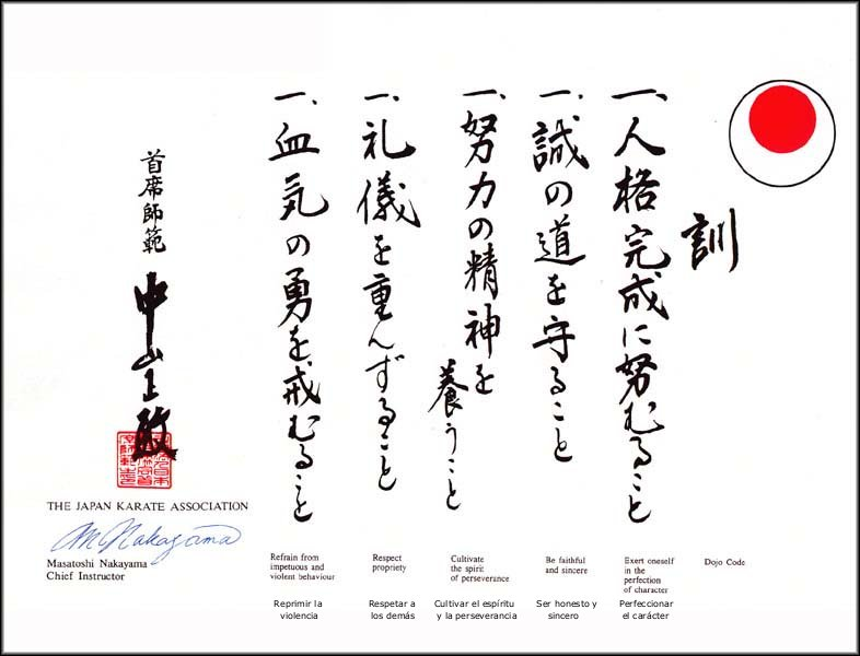Karate Preceptos: