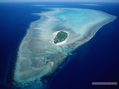 insula pamant ocean apa albastru