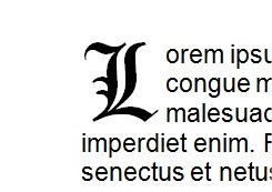 Word - exemple de lettrine