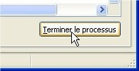 capture d'écran Windows XP - Terminer le processus