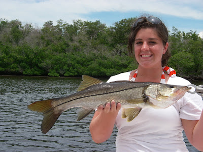 woman with snook