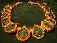 Collar bonbones de cobre combinado