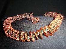 Collar espiral de cobre combinado