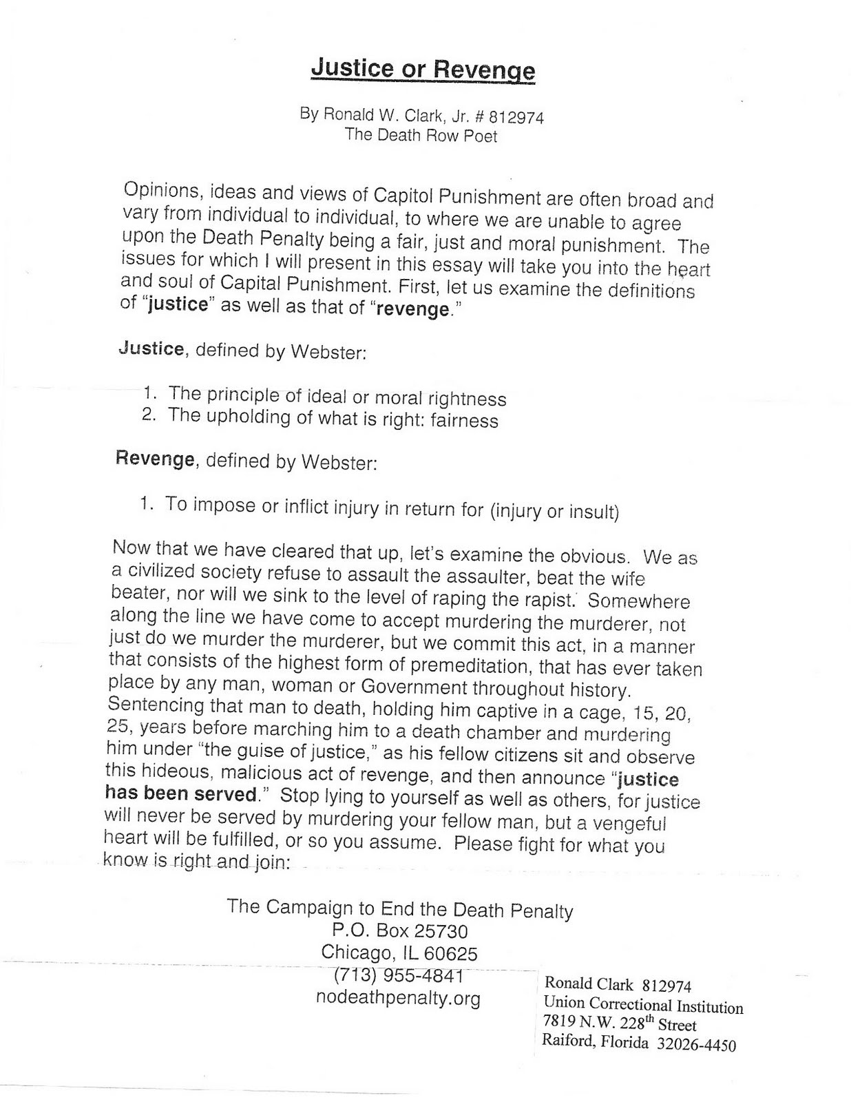 death penalty proposal essay Essay: arguments against the death penalty no side was taken in this essay however the title clearly states that the essay should be on arguments against.