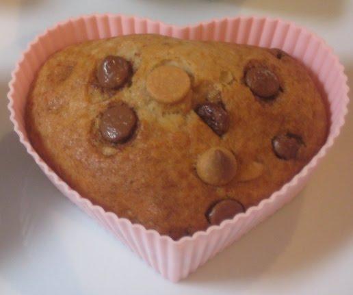... Kitchen ♥: Banana, Peanut Butter & Milk Chocolate Chip Muffins