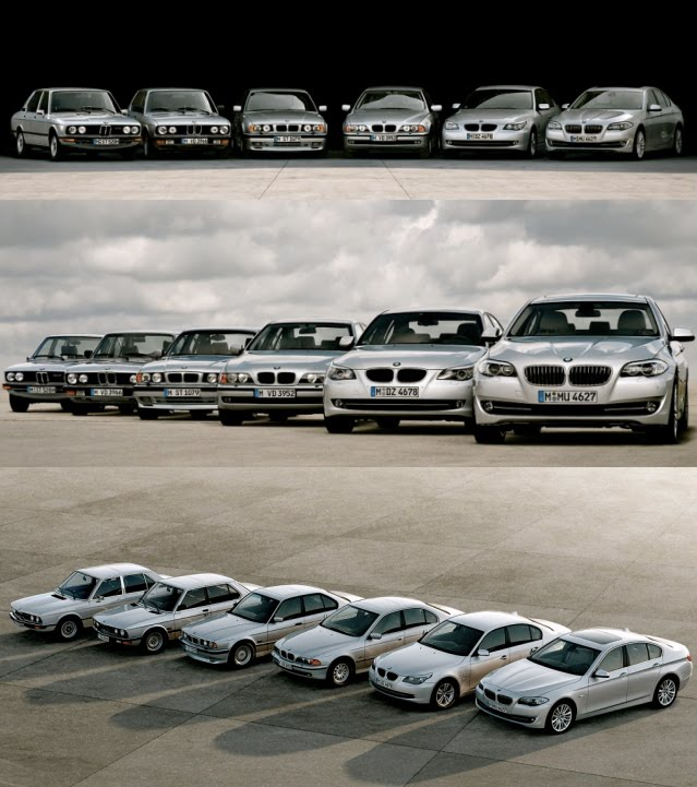 BMW 5-SERIES – ALL SIX GENERATIONS TOGETHER