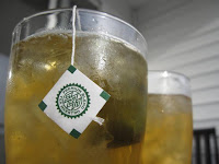 Summer in Seattle is the best time to enjoy Japanese green teas such as Hojicha tea iced.