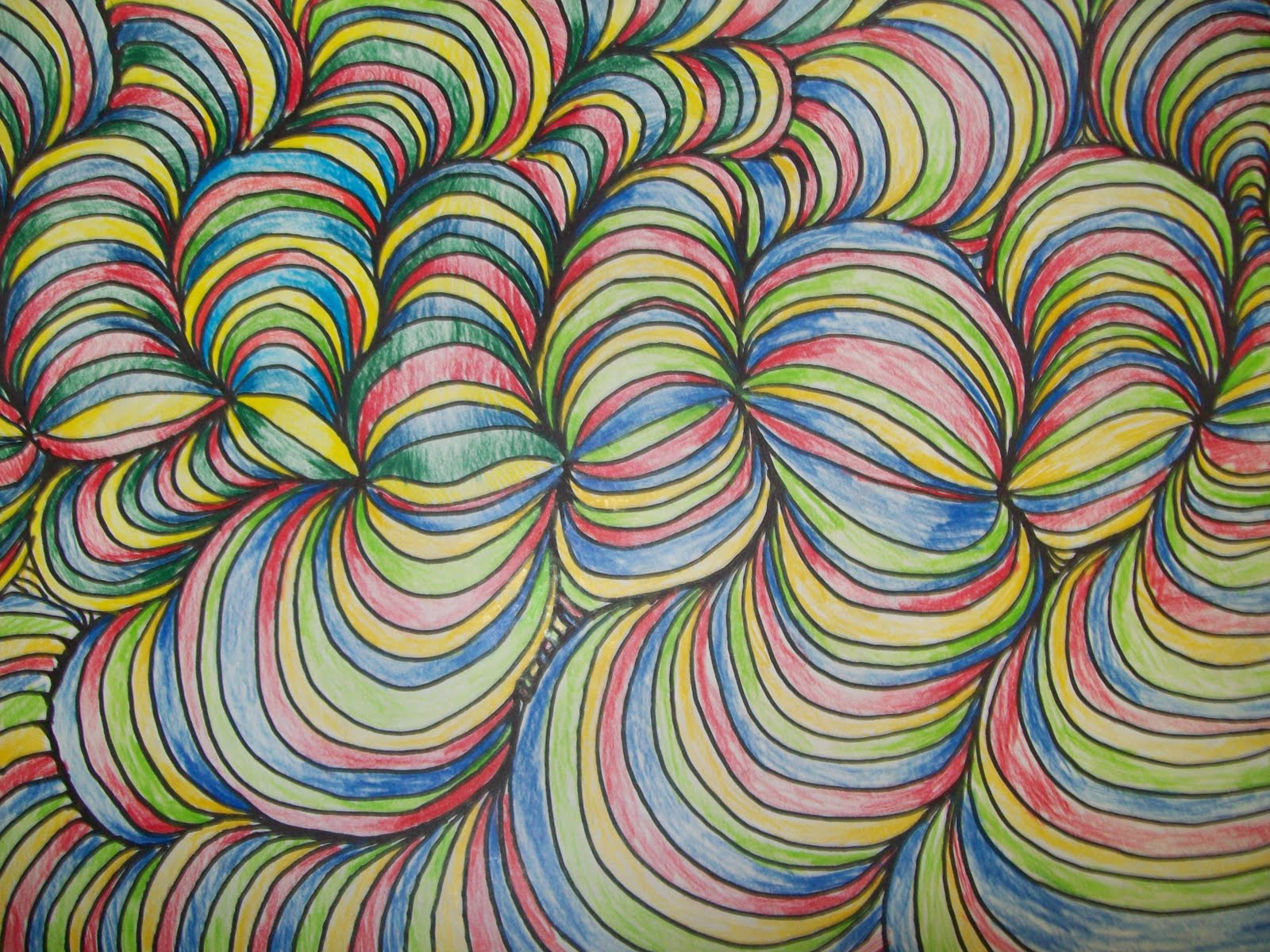 Color Line Design : Art with mr e line design w shading student work in