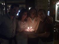 Mario, Laly, Antonio y Josele en el cumpleaños de Laly