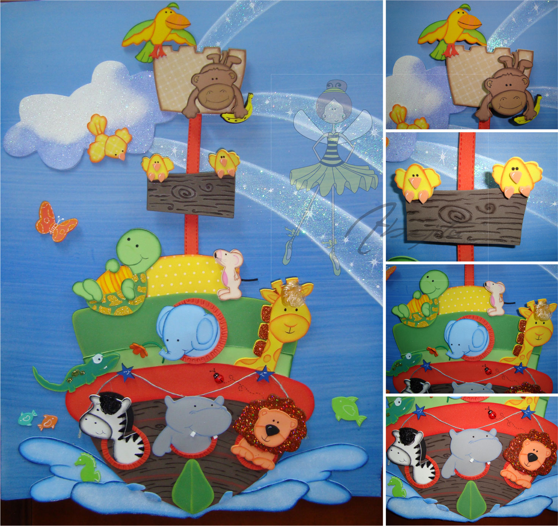 Animales de la selva en foami imagui for Decoracion infantil goma eva