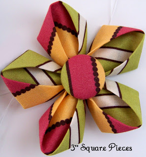 All Flowers Are Made With A Variation Of This Kanzashi Tutorial   The