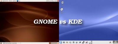 KDE vs GNOME Gnome_vs_kde