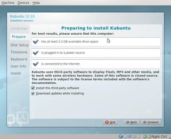 Kubuntu 10.10 Maverick Meerkat Ubiquity2-wee