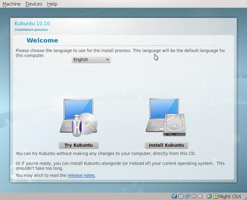 Kubuntu 10.10 Maverick Meerkat Ubiquity1-wee