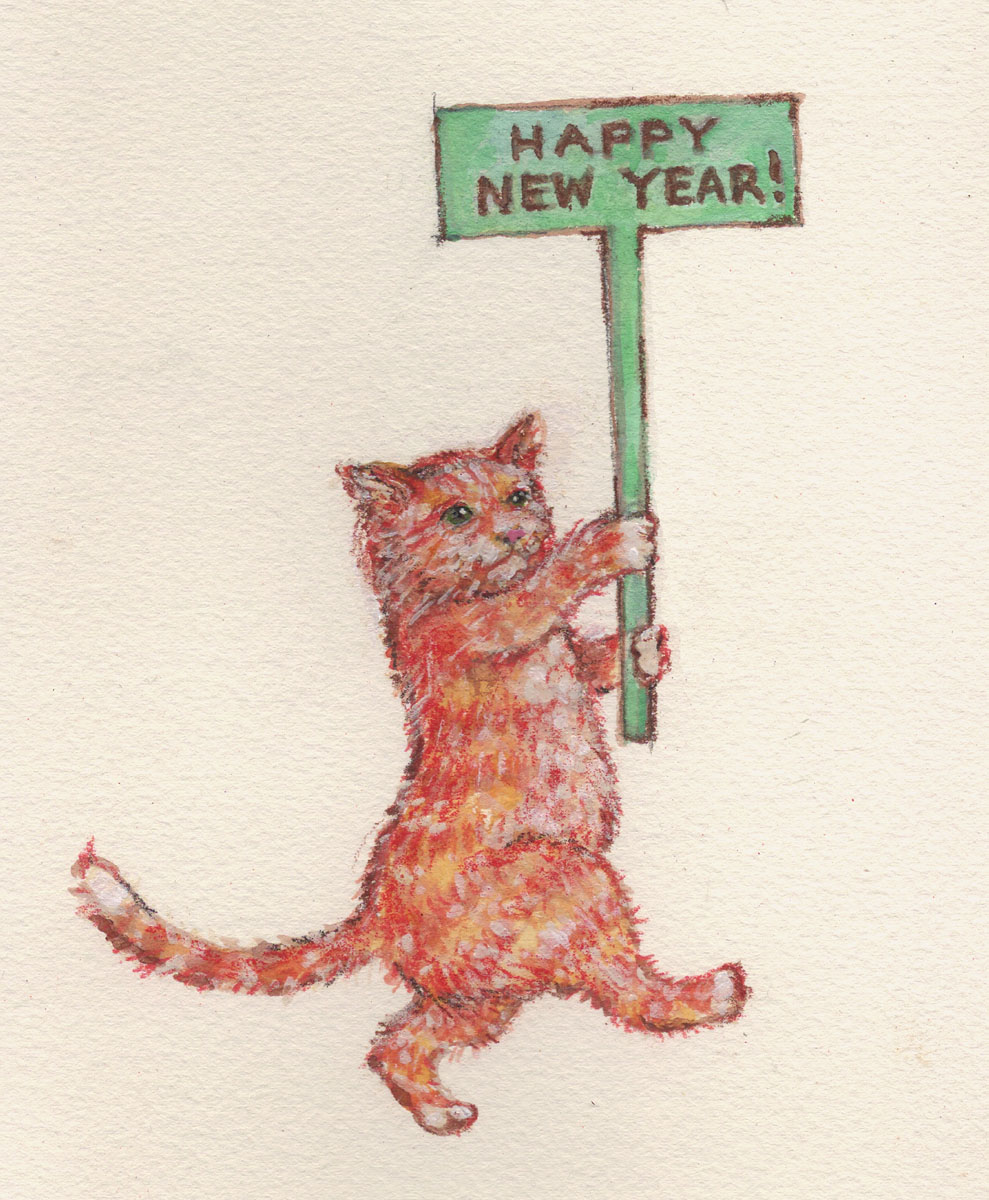 cats on wednesday happy new year of cats