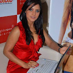 Spicy Neetu Chandra In Red At The Launch Of Her Website