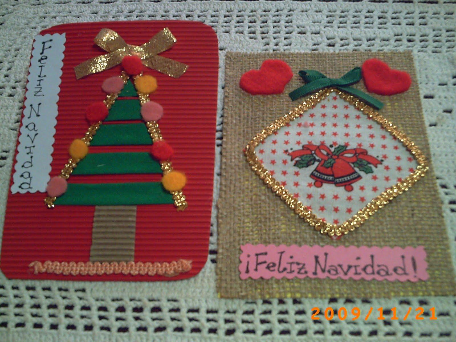 Manualidades variadas tarjetas navide as - Postales navidenas para hacer ...