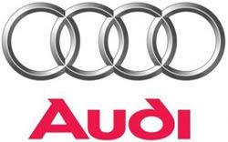 Audi Logo with Audi Sans Typeface.
