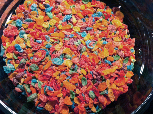 This is for butter lovers.: Fruity Pebbles Buttered Krispie Treats