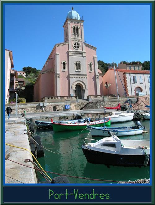 Eglise de Port-Vendres et ses bâteaux