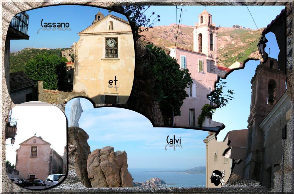 Eglise de Cassano et la Vierge Marie du Haut de Calvi