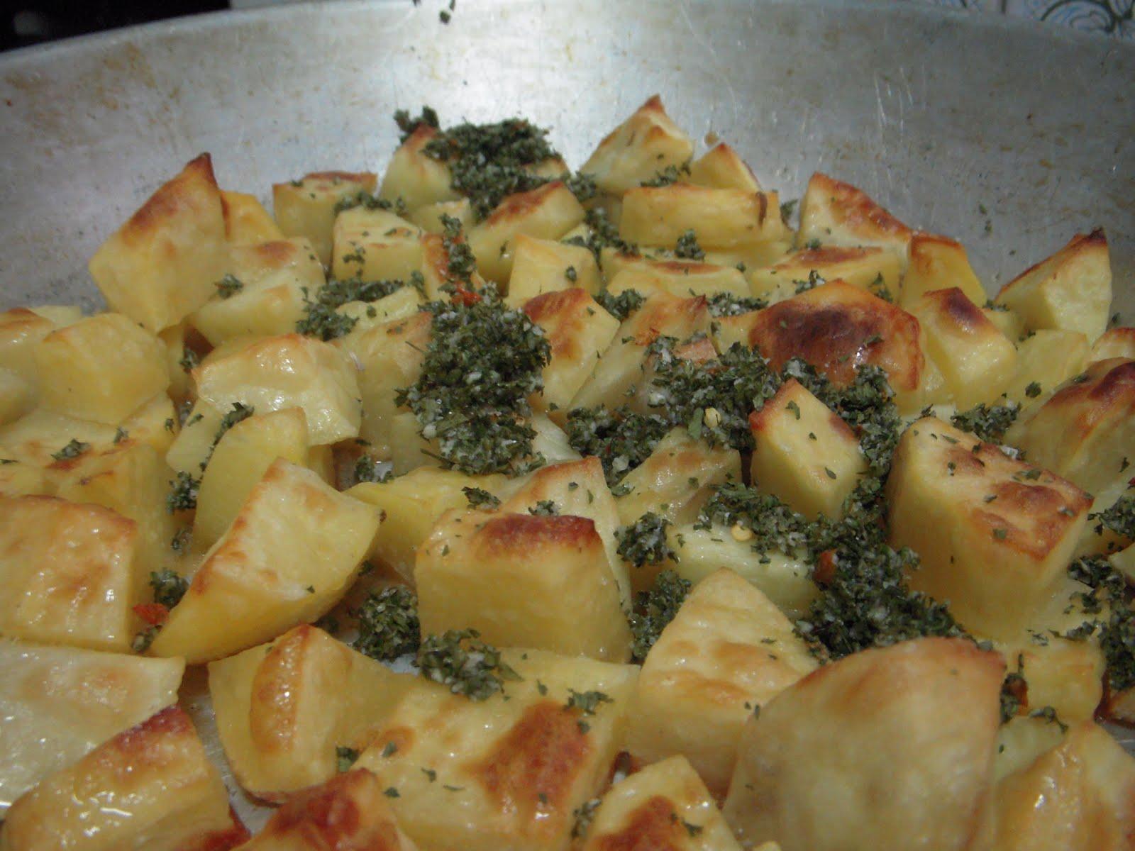 Sin huevo patatas al horno - Patatas pequenas al horno ...