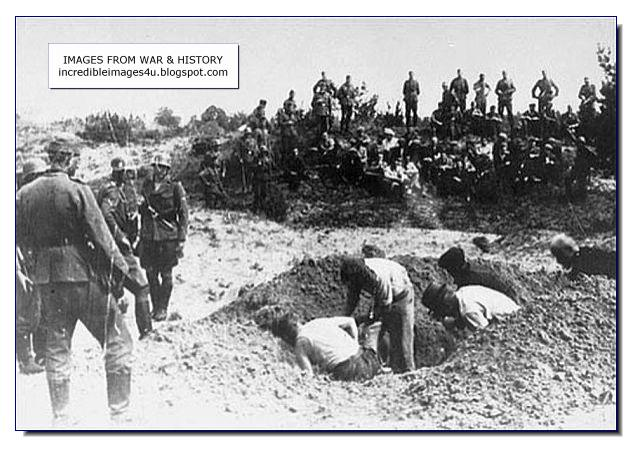 victims digging own graves before execution
