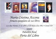 MARÍA CRISTINA AZCONA- Directora- IFLAC Argentina-Embajadora Universal de la Paz