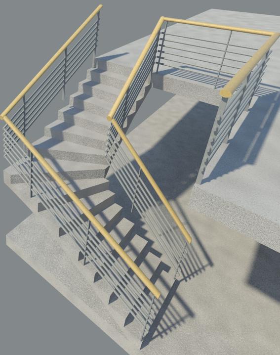 revit m mo revit 2013 2010 escalier escalier balanc multi tage. Black Bedroom Furniture Sets. Home Design Ideas