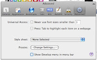 Safari Advanced Preferences