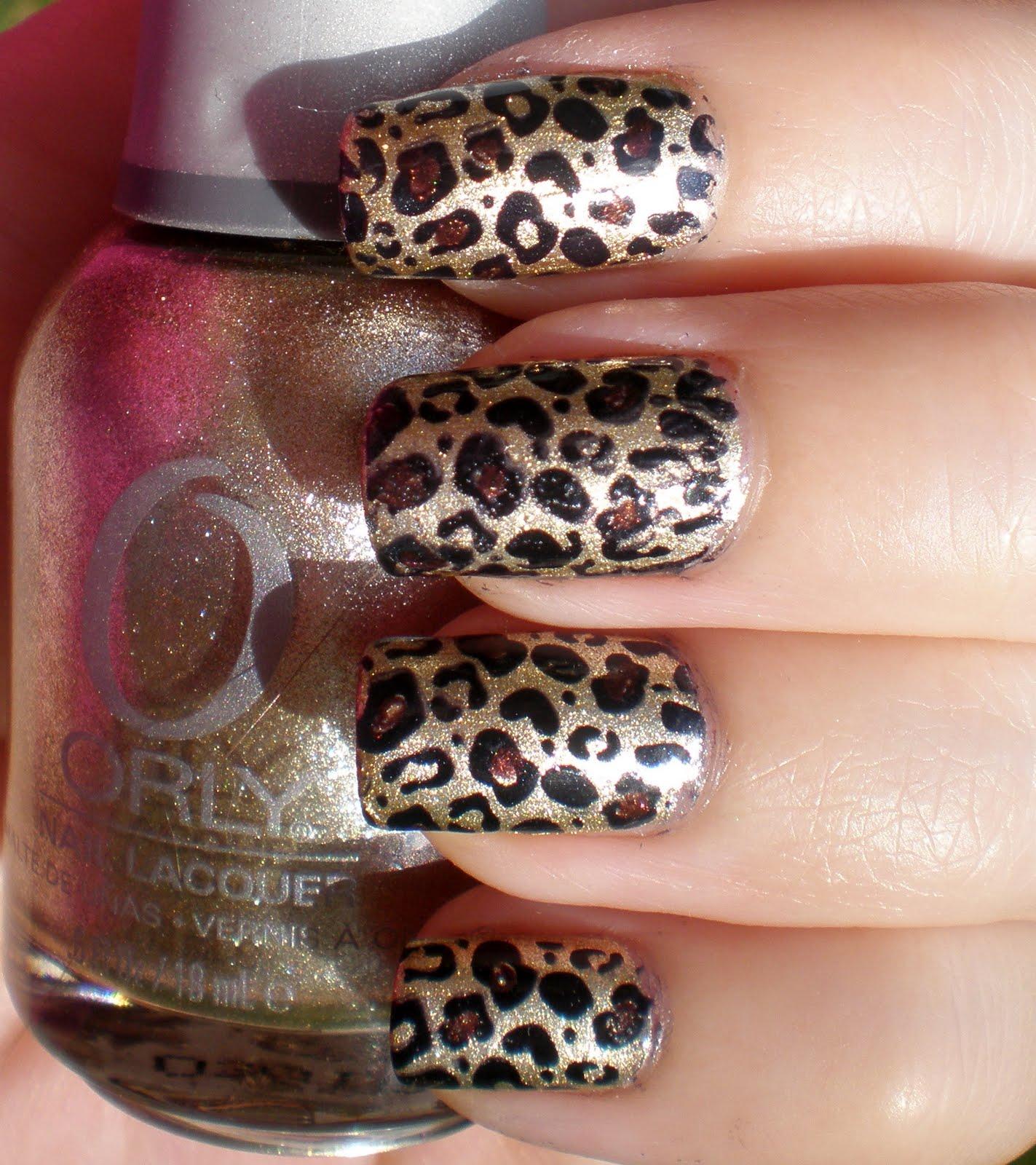The Cool 2015 cheetah print nail designs Image