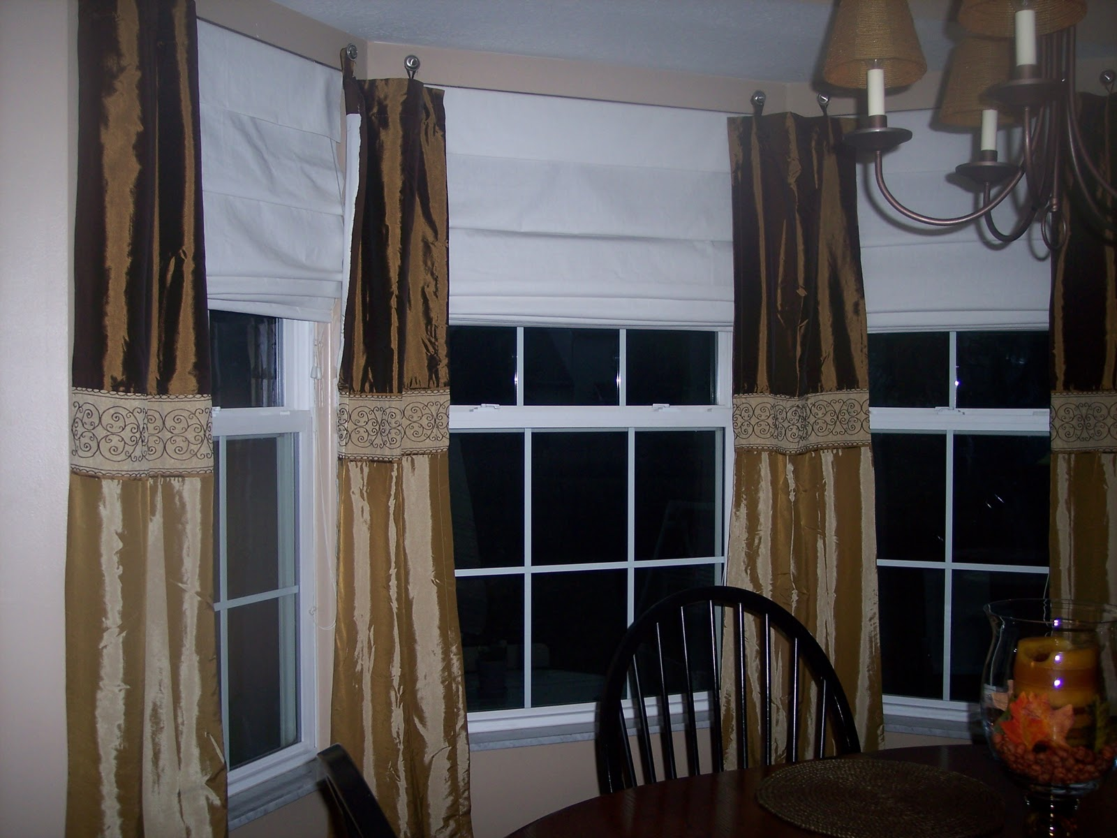 Window Treatments For A Square Bay Windows More no-sew window ...