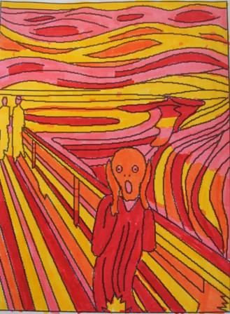 Arte en la escuela colores c lidos fr os el grito - Cuadros con colores calidos ...