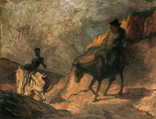 Don Quijote y Sancho Panza - Honoré Daumier