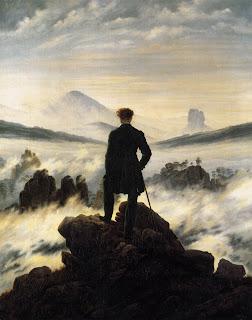 El caminante sobre el mar de nubes - Caspar David Friedrich