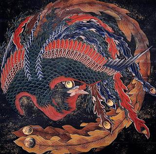 Ave Phoenix - Katsushika Hokusai