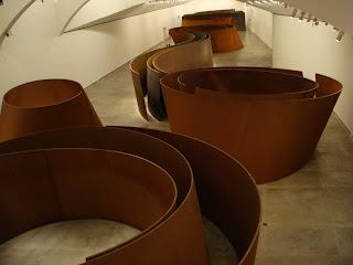 Instalación en el Guggenheim - Richard Serra, Premio Príncipe de Asturias de las Artes, 2010