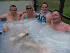 Too hot in the hot tub!!