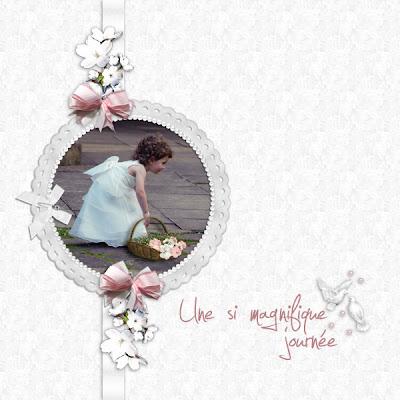 faire part de mariage original, pas cher, avec photo Scrap'Mauve  réf B31A