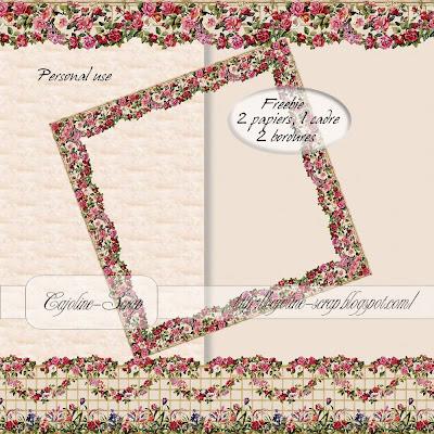 http://cajoline-scrap.blogspot.com/2009/11/freebie-set-papiers-et-bordures-pu.html