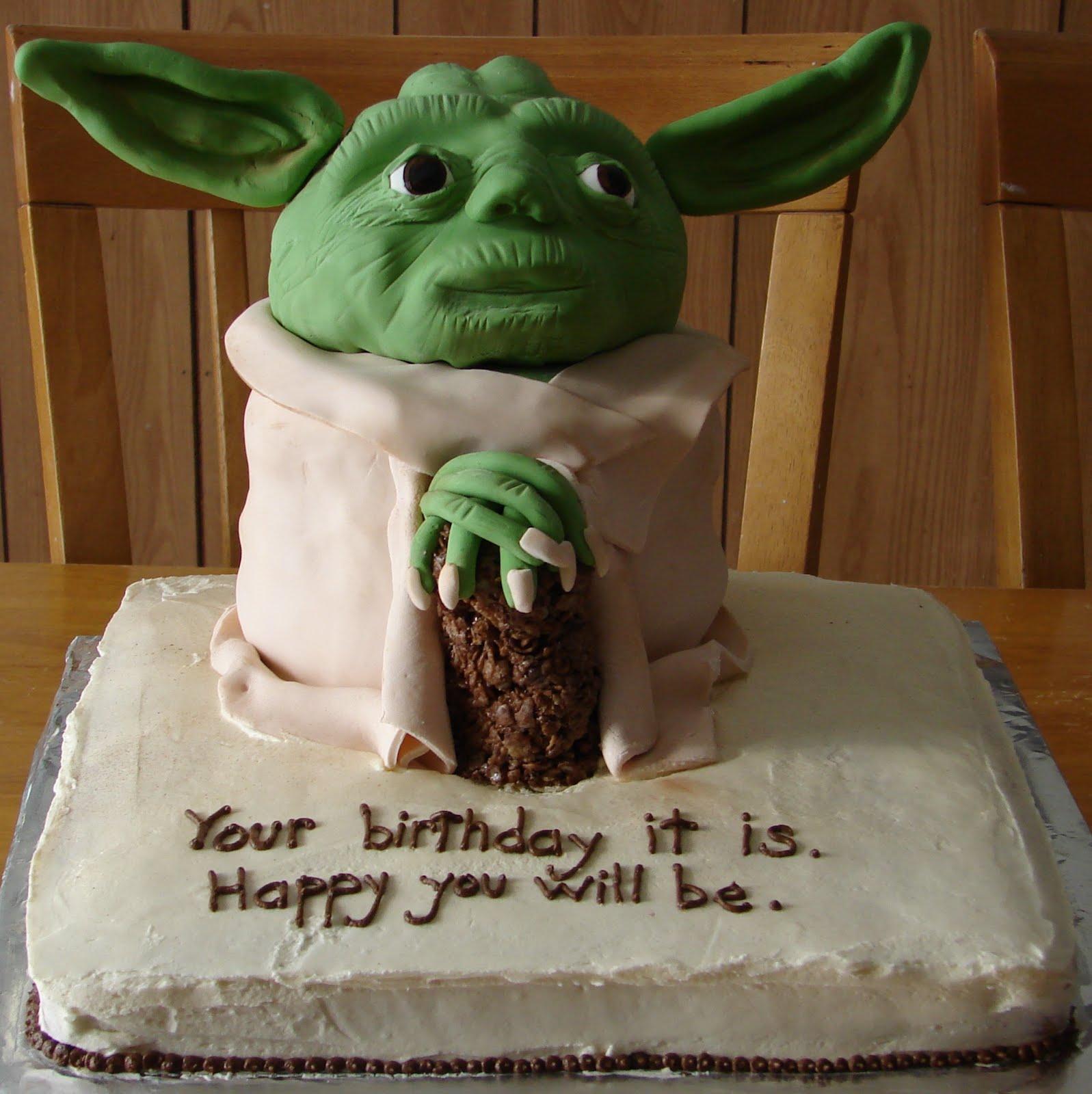 how to make a yoda cake