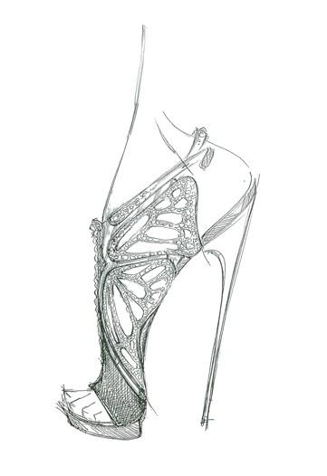 Туфли, рисунок
