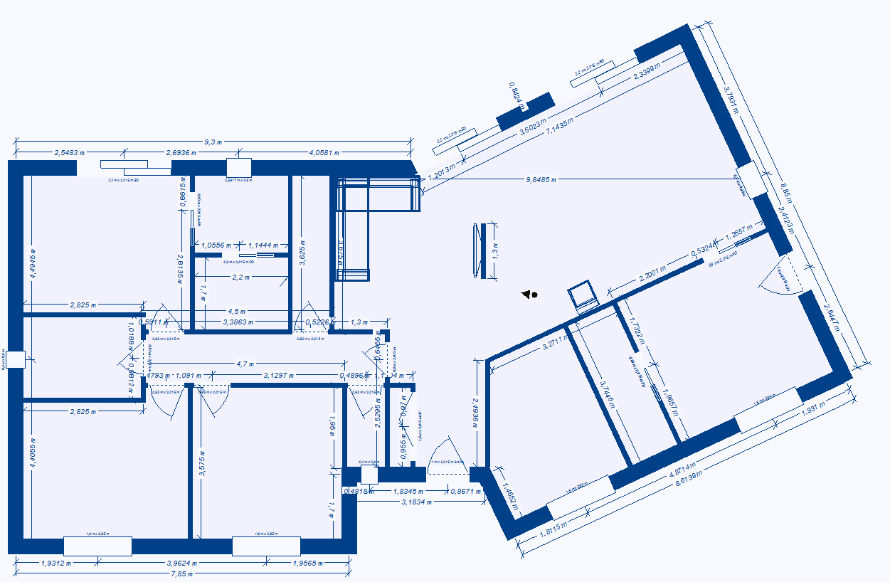 Plan maison 3 chambres plain pied for Plan maison simple 4 chambres