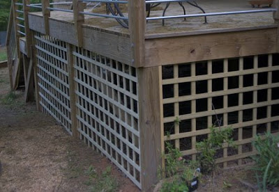 King lattice strip widths would with