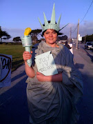 Lady Liberty at the Tax Day Tea Party in Monterey